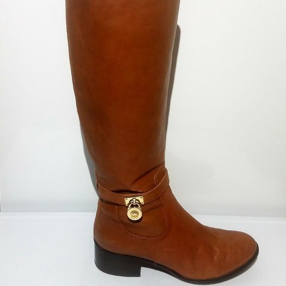 df7fe8c066fca Michael Kors Hamilton Knee High Leather 9m Boot. M 5b6e4b15035cf1113ba6ef67